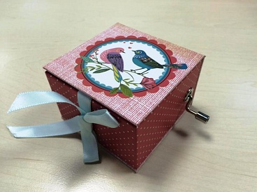 Коробка Stewo Music box Best Fr, 7,5 х 7,5 х 5 см, 2 дизайна